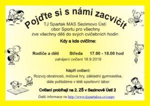 Pozvánka na cvičení rodičů a dětí